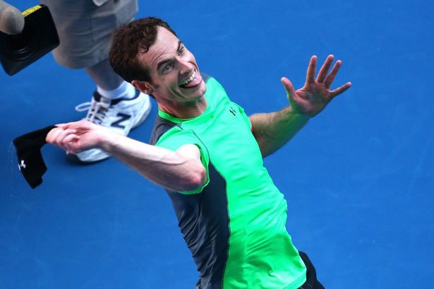 Clive Brunskill/Getty Images Andy Murray of Great Britain celebrates winning in his third round match against Joao Sousa of